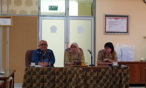 Pertemuan Dewan Pengawas dengan Rumah Sakit (20/1) di ruang Borobudur dengan agenda penyampain kinerja 2019 rencana program 2020